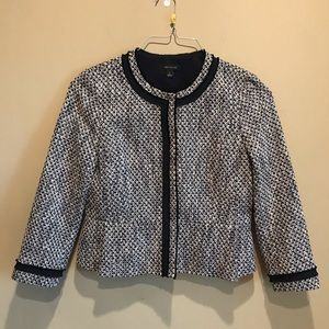 Ann Taylor Navy Blazer Size 10